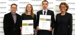 Internationale Auszeichnung für Auszubildende von Volkswagen Nutzfahrzeuge.