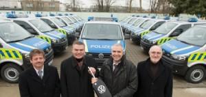 Neue Polizeifahrzeuge für Sachsen-Anhalt.