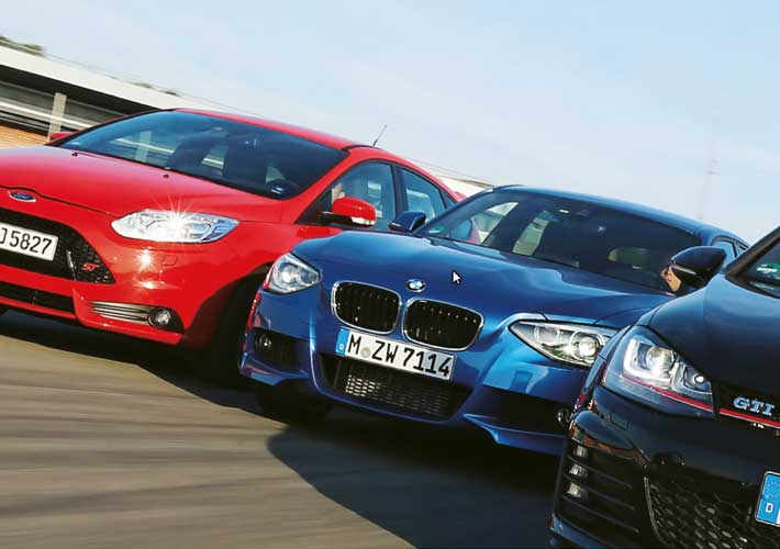 Σύγκριση: Golf GTI vs BMW 125i, Ford Focus ST, Mercedes A 250