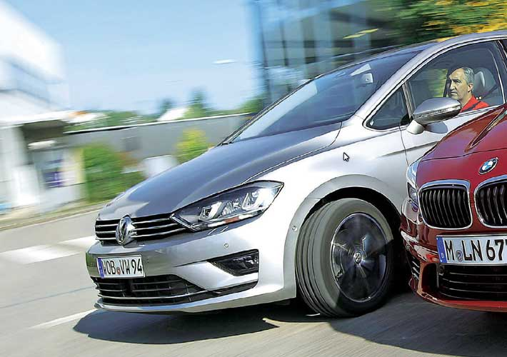VW Golf Sportsvan vs BMW 2er Active Tourer