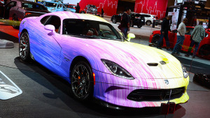 1 Of 1 Dodge Viper looks a fabulous mess in Chicago