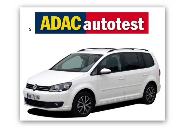 Touran 1.6 TDI Bluemotion – ADAC Autotest