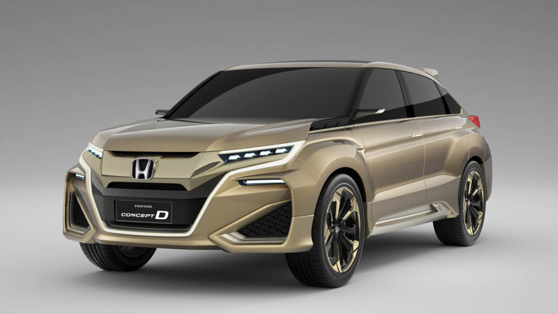 Honda reveals Concept D crossover in China