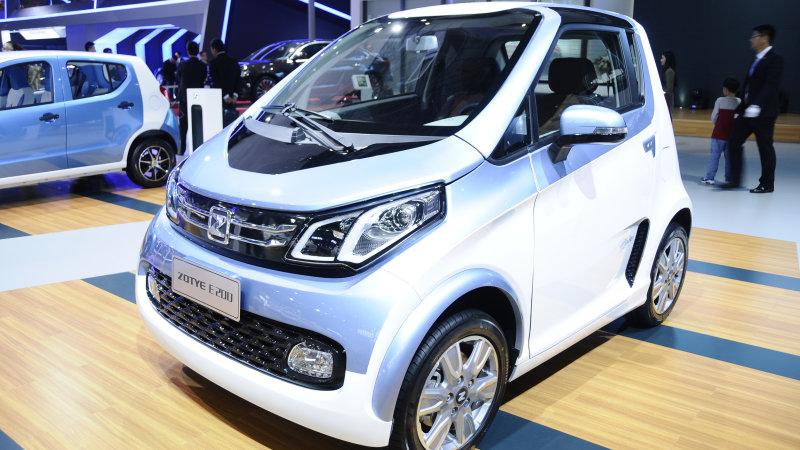Zotye had two EVs in Shanghai