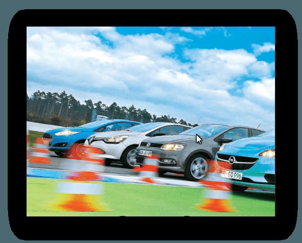 """Συγκριτικό test: """"Oι μεγαλύτεροι των μικρών"""" (auto, motor & sport, Heft 26/2014)"""