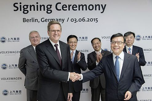 Volkswagen signs cooperation agreement in the area of e-mobility research with Chinese joint venture partner SAIC