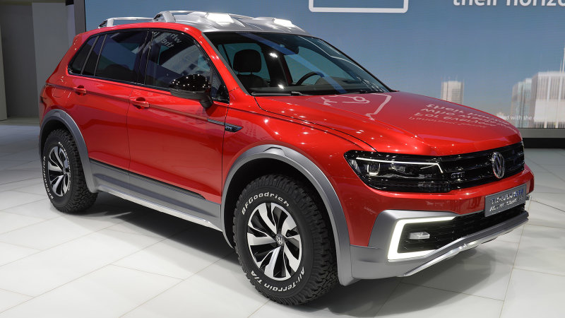 VW Tiguan GTE Active Concept looks ready for safari in Detroit