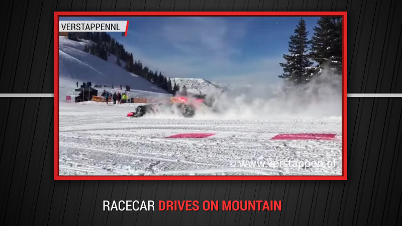 Red Bull hits the slopes in a specially modified F1 car
