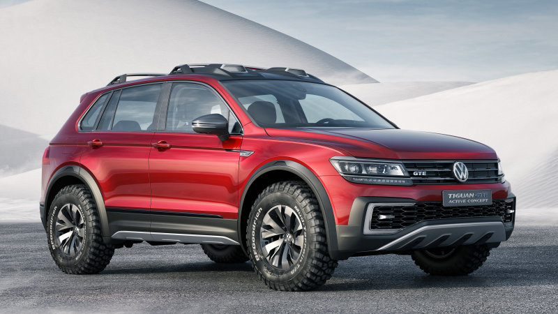 VW Tiguan GTE Active Concept is a sporty off-road hybrid [w/video]